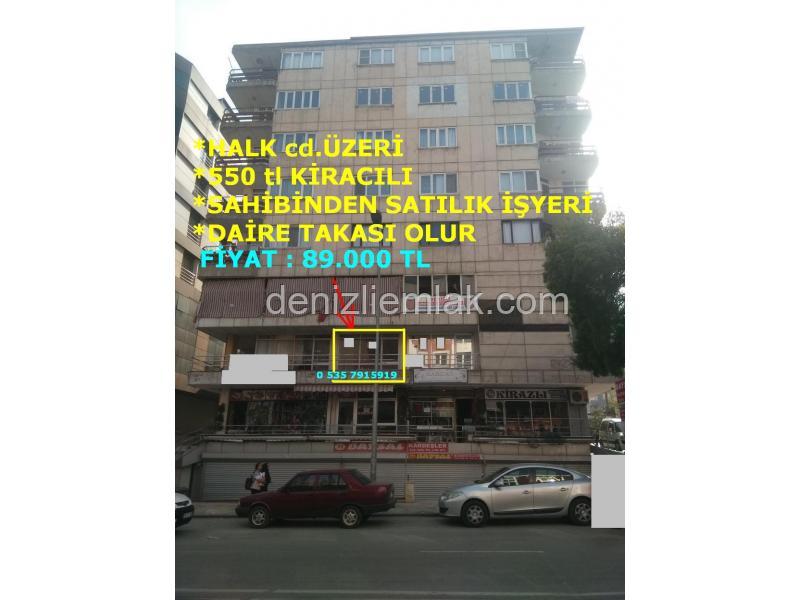 DAİRE TAKASLI GARAJ ÜSTÜ CD ÜZERİ 550 tl KİRA GETİRİLİ SATILIK İŞYERİ